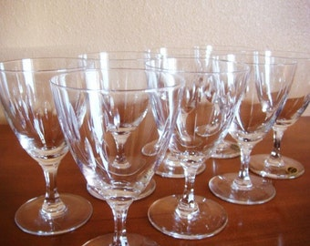 8 Easterling Marquise Crystal Water Goblets