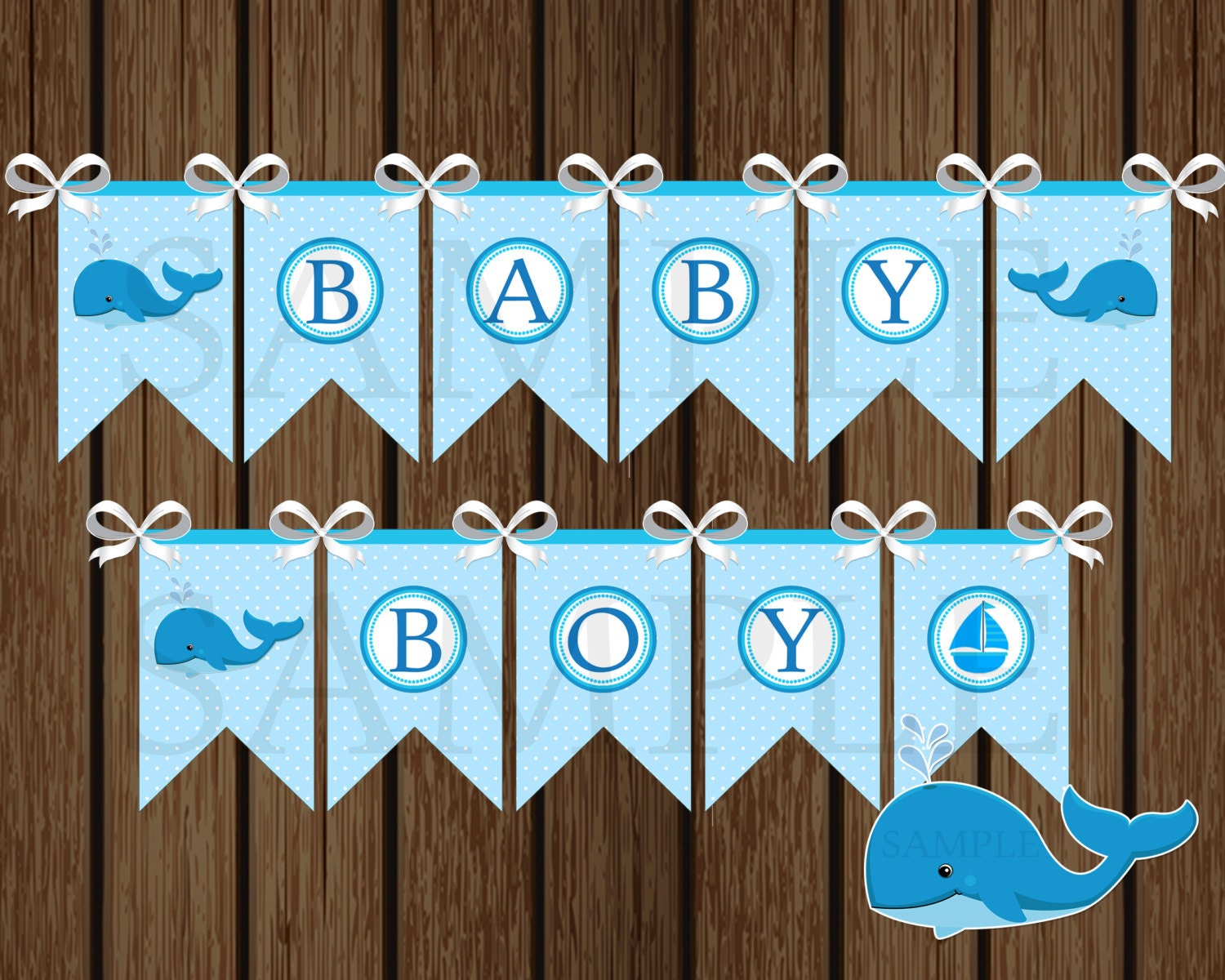Baby Boy Whale Banner Diy Whale Baby Shower Banner Shower