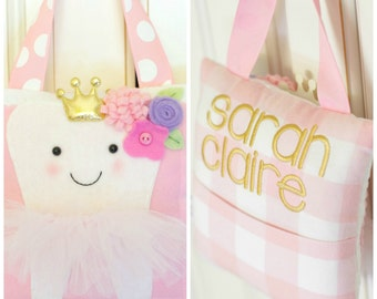 Personalized Garden Princess Tooth Fairy Pillow
