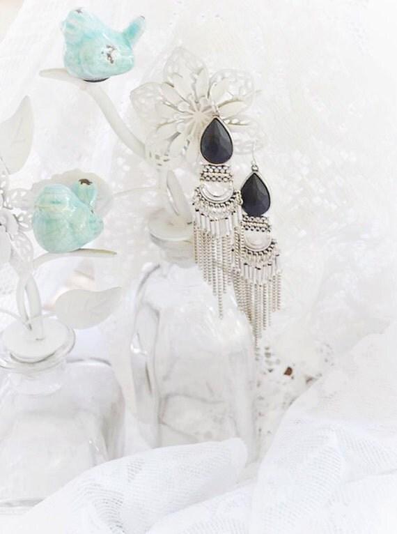 Gypsy dangle earrings, Fortune teller bohemian earrings, boho jewelry, Music festival earrings, Gypsy festival jewelry, True rebel clothing