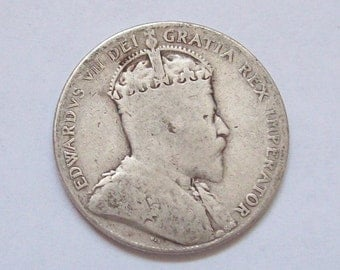 1904 Newfoundland 50 Cent Coin Sterling Silver Half Dollar