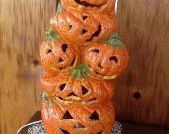 Pumpkin Light Vintage Halloween Autumn Decor