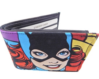 "BI-FOLD Men  Wallet With ""BATWOMAN"" Pattern, cotton, new"