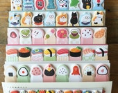 Kawaii Sticky Index Tabs/ One Point Sticker - Traditional Japanese Designs at yout choice