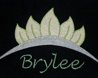 Disney's Princess and the Frog inspired t-shirt w embroidered Tiana Tiara and personalized w your name -  perfect for Disney fans