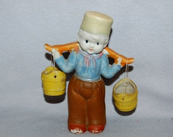 Vintage / Bisque / Doll /  Boy / Dutch / Buckets / frozen charlotte / penny doll / Vintage Dolls