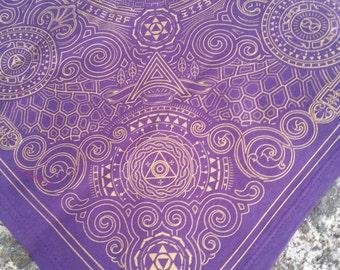 Arcana Bandana - Purple and Gold