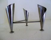 Vintage Danish Tulip Candle Holder Stainless Tri-pod Hans Jensen