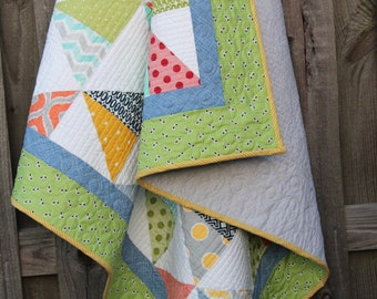 Quilts,  Quilts for Sale, Baby Quilts, Custom Handmade Quilts, Gray, Home Decor, Gender Neutral Quilts, Modern Quilt, READY TO SHIP
