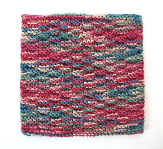 Knit Dishcloth Cotton Dishcloth Red Multicolor Dishcloth