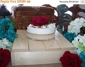 on sale Rustic Cake Stand Wedding 7,14,16,18 wooden cupcake stand wedding Cake Box Plate birthday reception farm outdoor country