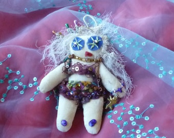 Goth Doll, Fabric Doll, Voo Doo Doll, Voodoo Doll, Fantasy Doll by gothB4play