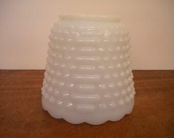 Vintage Fire King Milk Glass Planter   Utensil Holder