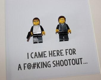 THE KRAYS - LEGEND - Framed custom Lego minifigures