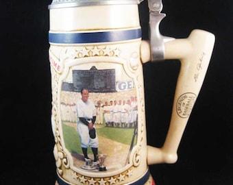 Lou Gehrig Legends Of Baseball Bradford Ceramic Stein Pewter 1993 W/COA