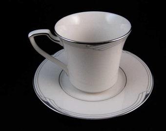 Noritake Sterling Cove Tea Cup & Saucer Set #7720