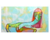 Street Style Colorful Portrait Rainbow Woman Pink Hair 8x10 Archival Print