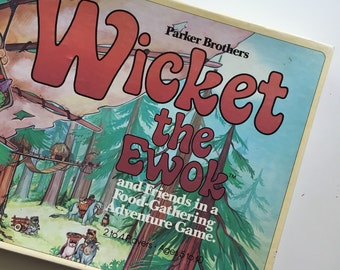 Wicket the Ewok Game, vintage Star Wars board game 1983