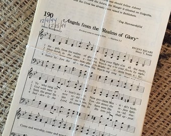 100 Sheets of Vintage Hymnal Pages- Song leader special - Sheet Music Ephemera