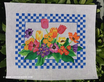 Spring Flowers Needlepoint - Jody Designs