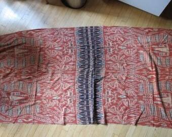 VTG Indonesian IKAT Woven Textile