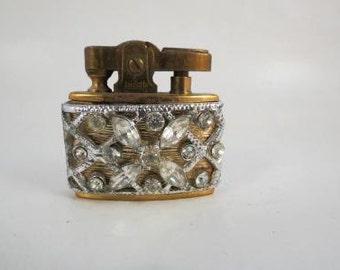 Vintage Trickette Rhinestone Wiesner Lighter