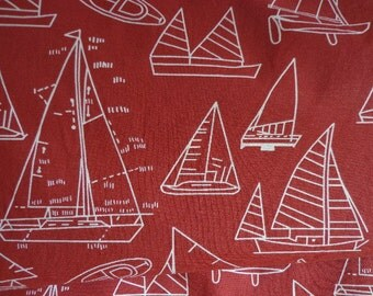 Sailboat Patterned Fabric One Way Design