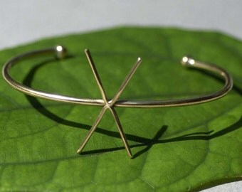 Solid Bronze Cuff Bracelet with 4 Prongs Claw for Jewelry Making Supplies