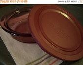 Valentines SALE Vintage Corning Vision Casserole Dish, Cranberry, w/Storage Lid, 1 1/2 Qt