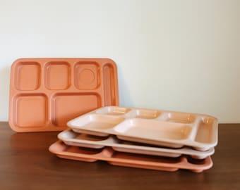 70s vintage lunchroom trays