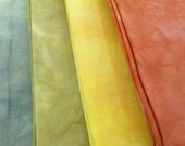 Hand-Dyed Quilt Fabric - Fat Quarter Bundle - Art Quilt Fabric - Monet Haystacks Colors - Landscape Quilt Fabric - 4 FQ - QP011616