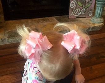 Pig Tail Bows  Set Of 2