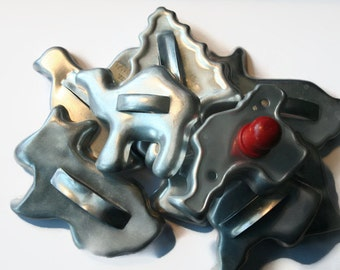 Vintage Aluminum Cookie Cutters Lot of 9