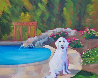 Custom Pet Portraits - Many Sizes - Modern Impressionist Original Oil Painting of Your Pet by Rebecca Croft