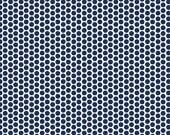 Sale 1 YARD Navy Honeycomb Dot