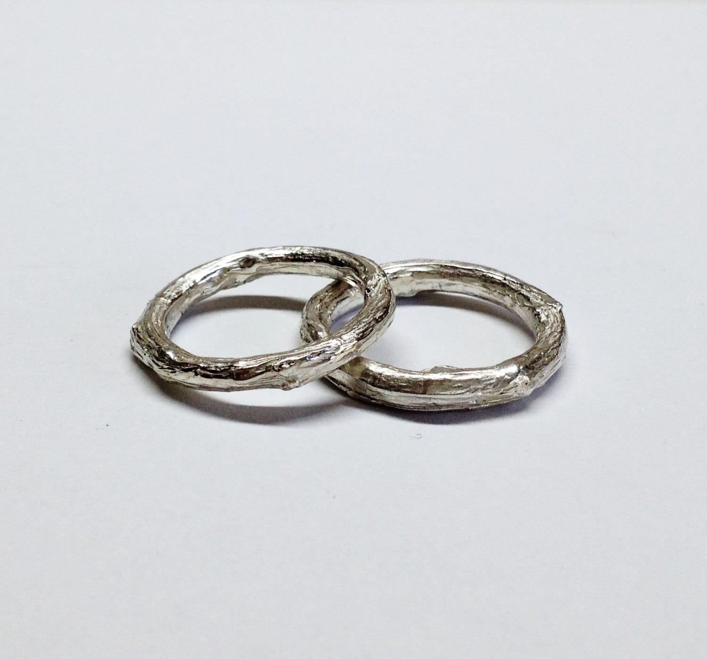silberne Hochzeitsringe Silber Ringe Silber Zweig Ringe