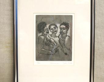 Etching , John Culik , Group Portrait , Male Portrait , Fine Art , Original Art , Print , Black and White , Noted Artist , Art , Group