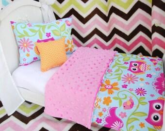 "American Girl 18"" Doll Bedding Set, Playful Owls"