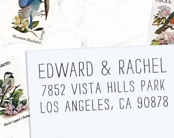 Custom Address Stamp, Wedding Address, Personalized Stamp, Custom Rubber Stamp, Invitations, Self inking or Eco mount stamp - LetterSmith 2