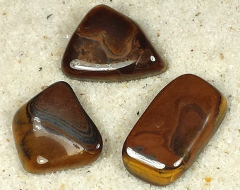 Tiger's Eye Tumble Polished Crystal Stone, 1 pc, Sizes 1.5 to 1.9 Inch, TS614