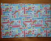 Childrens Placemat - Snoopy - Reversible - 12 x 18 - Alphabet