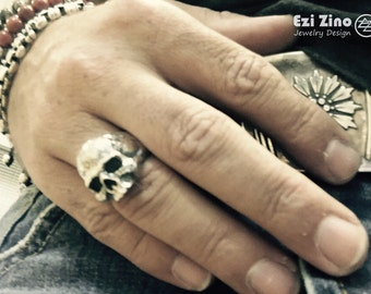 Ezi Zino Crack Skull ring sterling silver 925 From Islands Jewelry Collection