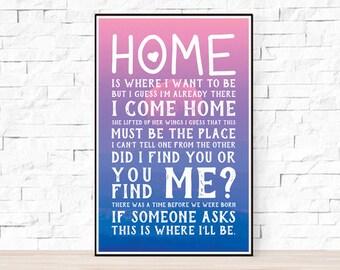 Talking Heads Song Lyrics Poster - Naive Melody