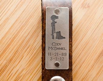 Personalized Leather Key Chain Accessory, Anniversary Gift, Custom Keychain, Wedding Gift, Memorial Remembrance Custom Leather Keychain