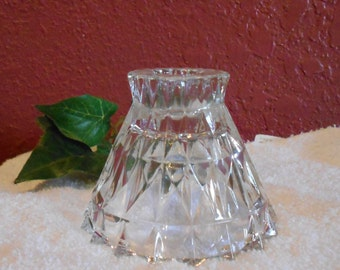 Vintage Jeanette Crystal Candlestick/Taper Candle Holder for Home Decor or Centerpiece