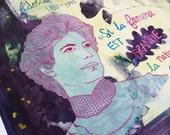 Feminist print, Idola Saint-Jean Poster, Quebec Feminist, French canadian feminist woman