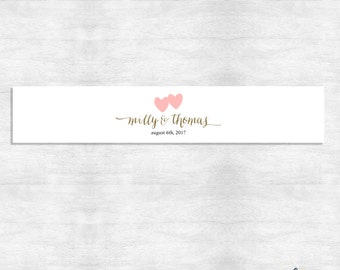 Coordinating invitation belly band / invitation belly band / printable file