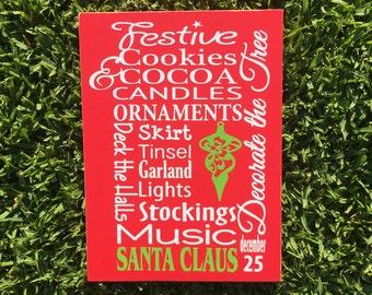 Joy Peace And Love ~Santa Claus Sign ~Christmas Decoration ~Christmas Sign ~Christmas Mantle Decor ~READY TO SHIP ~Merry Christmas Sign ~