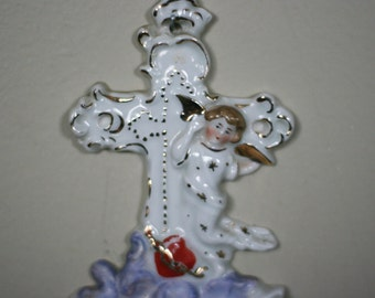 vintage holy water font
