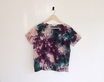 Tropical Tee Hand Dyed Cotton Top M/L